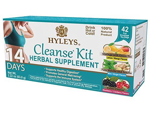 Hyleys 14 Days Weight Loss Kit – 42 Tea Bags (100% Natural, Sugar Free, Gluten Free and Non-GMO) & Hyleys Slim Tea Acai…
