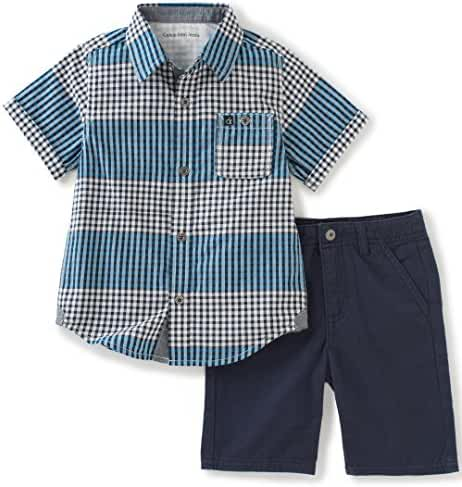 Calvin Klein Baby Boys' 2 Pieces Short Set-Woven Shirt