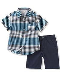 Calvin Klein Boys' 2 Pieces Short Set-Woven Shirt
