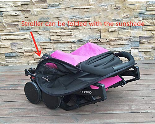 Summer Rayshade Stroller Cover Sunshade Canopy Compatible for Babyzen YoYo and Yoyo+ by ROMIRUS (Image #6)