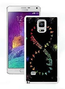 Popular Sell hakuna matata White Customized Samsung Galaxy Note 4 Phone Case
