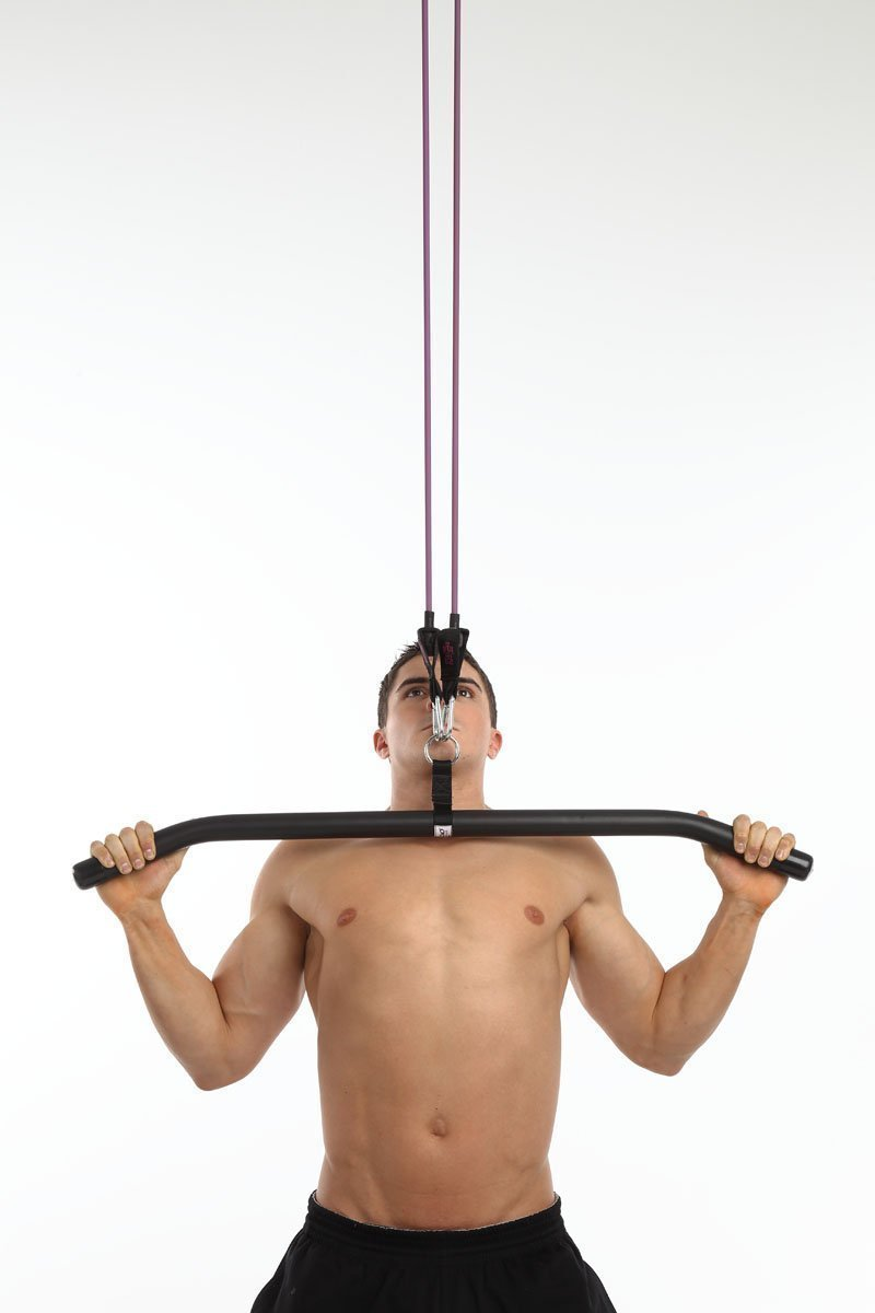 Anazao Fitness Gear 1-Nylon Strap LAT Bar (for use with Resistance Bands - NOT Included)
