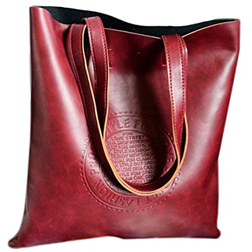 JD Million shop Vintage Women Tote Arrival Shoulder bags PU Leather Lady's Scrub Handbag Messenger bag Shopping Crossbody - Laurent Bag Saint Shopping