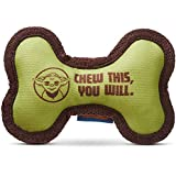 "STAR WARS Chew This You Will Bone Dog Toy, 6"" L X 4"" W, Small, Green"