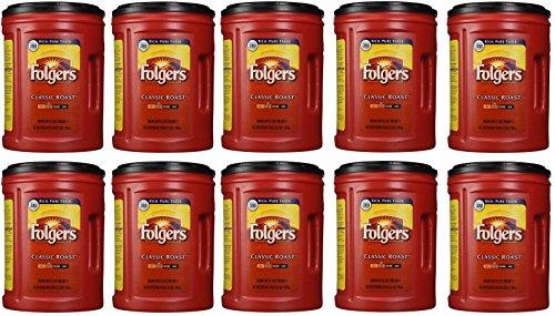 Folgers Coffee, Classic(Medium) HvNQnR Roast, 48 Ounce, 10 Pack by Folgers