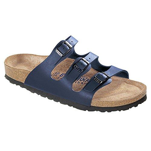 Birkenstock Women's Florida Soft Footbed Birko-Flor  Navy Sandals - 40 N EU / 9-9.5 2A (N) US ()
