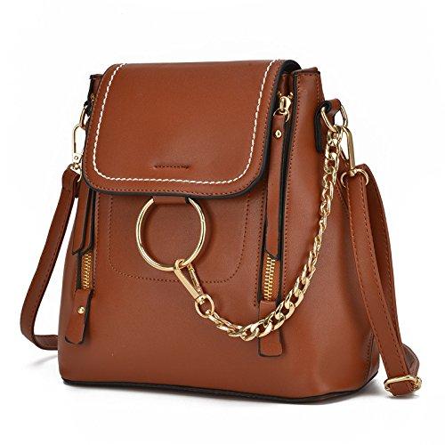 Women New Fashion Bag Backpack Shoulder Claret Brown Meoaeo Bag Fashion Can q6ZIx