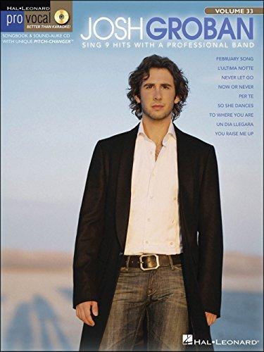 Hal Leonard Josh Groban - Pro Vocal Series for Male Singers Volume 33 Book/CD