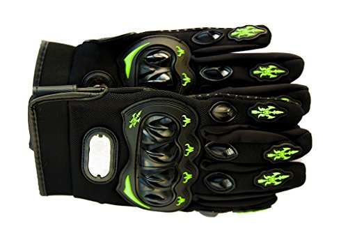 Green Motorcycle Gloves - 8