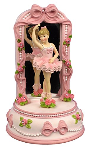 The San Francisco Music Box Company Ballerina and Bows Musical Figurine