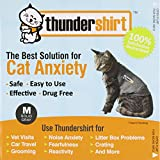 ThunderShirt Classic Cat Anxiety Jacket, Heather Gray, Medium by Thundershirt