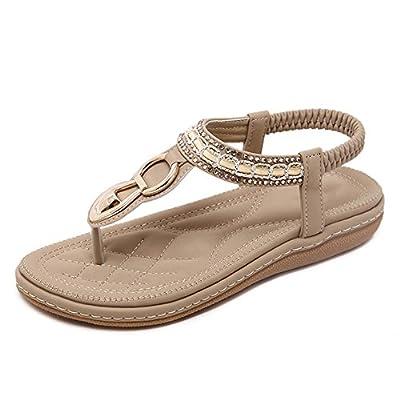 Vatiu Outdoor Thong Sandles Summer Womens Sandal Flat Flip Flops