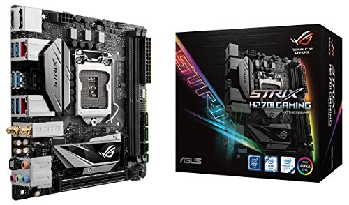 ASUS ROG Strix H270I Gaming ROG STRIX H270I GAMING LGA1151 DDR4 DP HDMI M.2 mini-ITX Motherboard by Asus