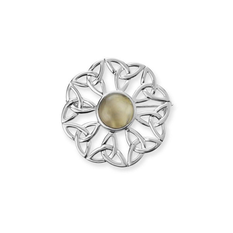 220cbb781dd5 85% OFF Broche Celta tradicional de diseño de lazos de trinité Sagrada de  plata esterlina