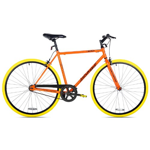 Takara Sugiyama Flat Bar Fixie Bike, Orange/Yellow, Medium/53cm Frame Kent International, Inc.