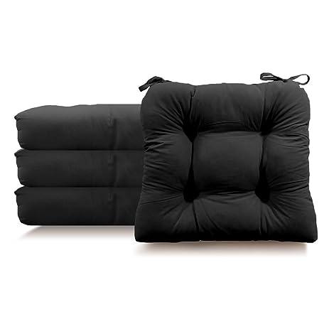 Tieback Chair Pad   Set Of 4