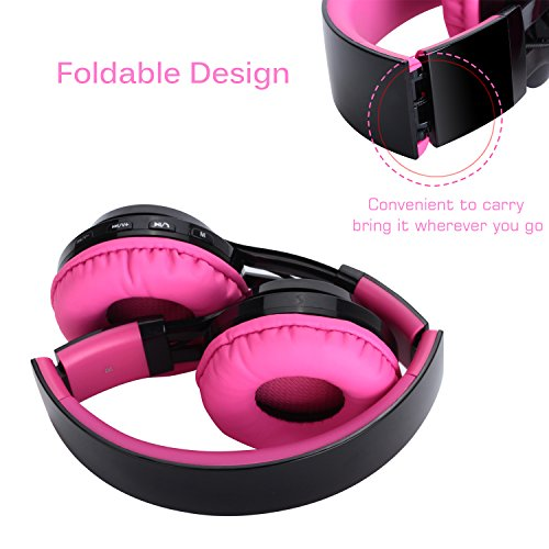 Bluetooth Headset, Riwbox AB005 Wireless Headphones 5.0 with Microphone Foldable Headphones with TF Card FM Radio and…