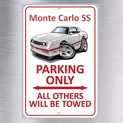 ttsdale Monte Carlo SS Parking Only Aluminum Metal Sign Super Sport Chevy Chevrolet New ()