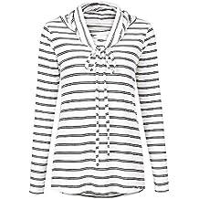 Robert Reyna Fashion Drawstring Striped Ladies