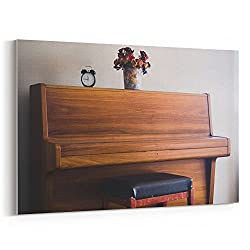 Westlake Art Piano Wood - 12x18 Canvas Print Wall Art - Canvas Stretched Gallery Wrap Modern Picture Photography Artwork - Ready to Hang 12x18 Inch (FE98-BD453)