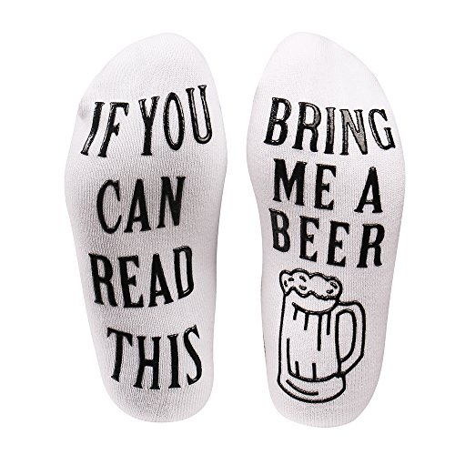 Beer Socks With Funny Words  Bring Me Some Beer   Valentines Day  Christmas  Birthday  Stocking Stuffers For Women Gifts For Women Men Her Husband Wife Friends