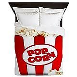 CafePress - Popcorn - Queen Duvet Cover, Printed Comforter Cover, Unique Bedding, Microfiber