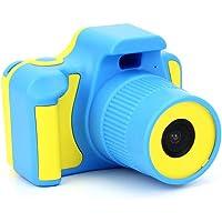 "Eachbid Kids Children Digital Camera 2.0"" LCD 5.0MP Mini Camera with USB Cable and Wrist Strap Cute Birthday (Yellow&Blue)"