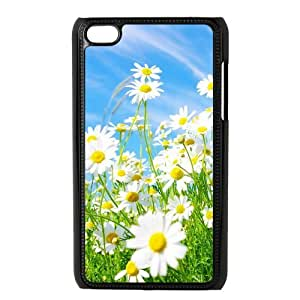 Custom Daisy,Sunflower Unique Ipod Touch 4 4th Generation Protective Plastic cover case