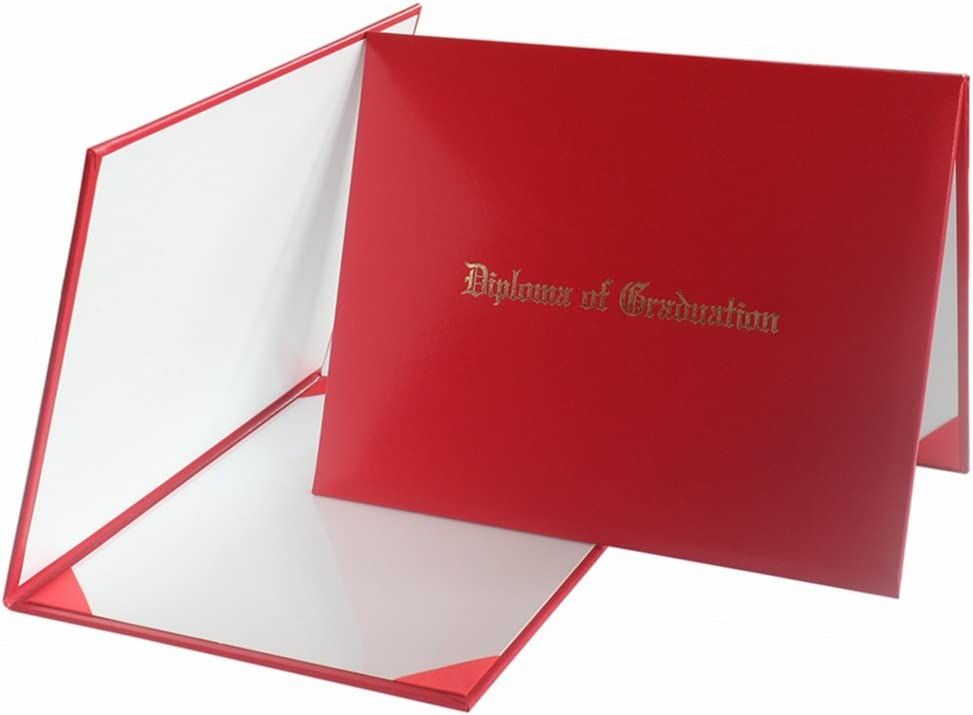 """Certificate Cover Imprinted/""""Diploma Of Graduation/"""" Smooth Diploma Cover 8.5/"""" X 1"""