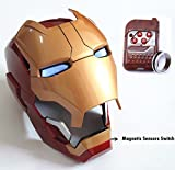 Gmasking Electronic Open/Close Iron Man MK42 Wearable Helmet 1:1 Replica+Gmask Keychain