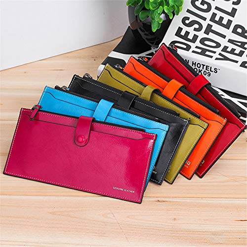 Orange Zipper Purse Women rabbit Orange Mobilephone Lovely function Multi Long Clutch Oil Color For Waxed Bag Zxw1v0q