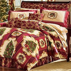 Amazon.com: Christmas Tree Holiday Bedding Set 4pc Comforter Bed ...