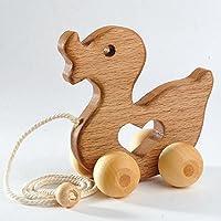 Animal Push Toy - Kids Toys Hardwood Wooden Toy Duck Push Toy - wooden kids toys Wooden Baby Toys animal toys