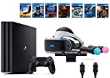 PlayStation VR Start Bundle 10 Items:VR Start Bundle PS4 Pro 1TB,6 VR Game Disc Until Dawn: Rush of Blood,EVE: Valkyrie, Battlezone,Batman: Arkham VR,DriveClub,Battlezone