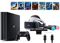 PlayStation VR Start Bundle 10 Items:VR Start Bundle PS4 Pro 1TB,6 VR Game Disc Until Dawn: Rush of Blood,EVE: Valkyrie, Battlezone,Batman: Arkham VR,DriveClub,Battlezone