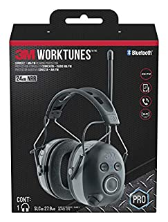 3M WorkTunes Connect + AM/FM Hearing Protector with Bluetooth technology (B0146A4SWA)   Amazon Products
