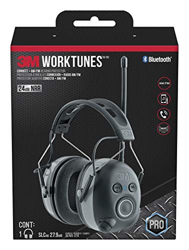 3M WorkTunes Connect + AM/FM Hearing Protector with Bluetooth ()