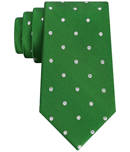 Tommy Hilfiger Men's Dot Tie, Green, One Size