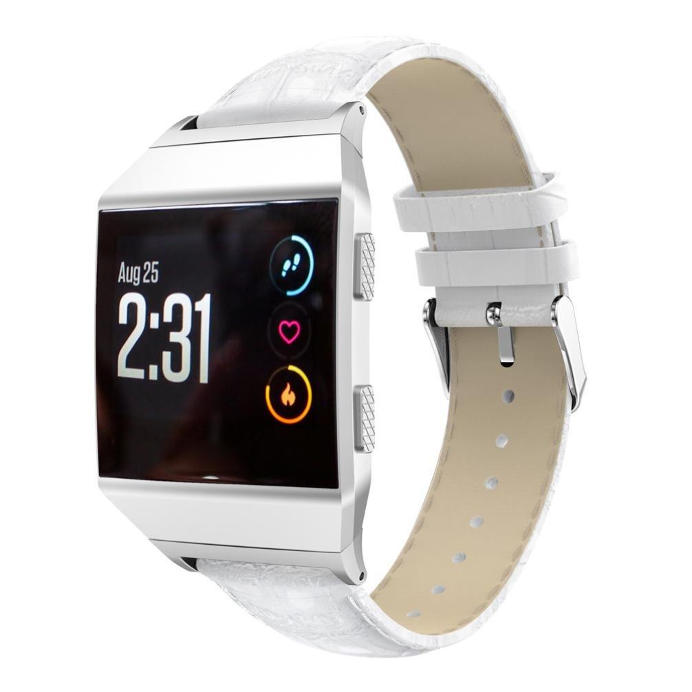 Fitbit Ionic帯、Liu Nianレザー交換リストブレスレットバンドfor Fitbit Ionic Smart Watch  ホワイト B076D6N3PD
