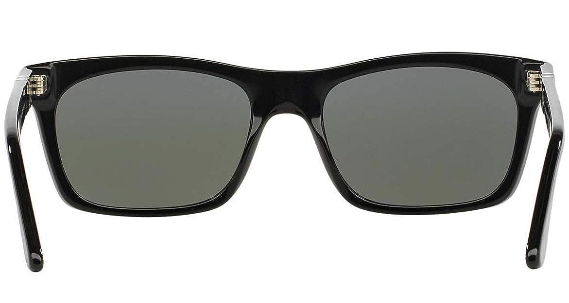 Persol 3062S 95//58 Black 3062S Wayfarer Sunglasses Polarised Lens Category 3