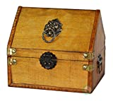 Vintiquewise(TM) Small Pirate Chest/Decorative Box with Lion Rings