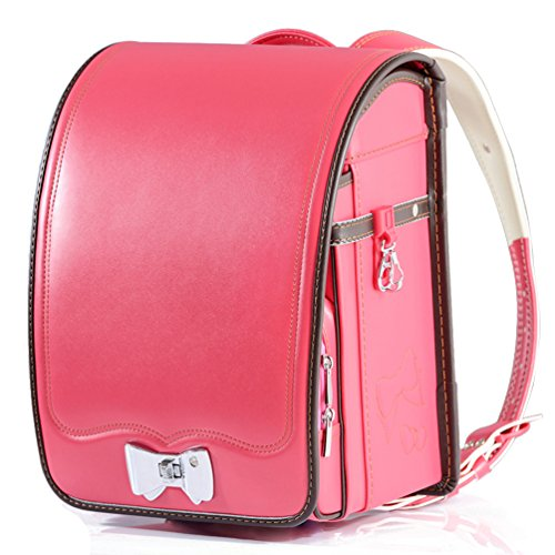 Ransel Randoseru upscale prince princess Japanese school bags for girls and boys 2018 new … (rose red) by Baobab's wis