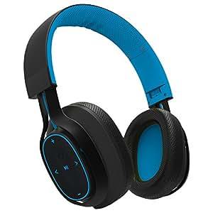 BlueAnt - Pump Zone Over Ear HD Wireless Headphones, Mega Bass and Enhanced Sound Purity (Blue)