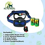 Pro Pet Works No Bark Vibration Collar No Shock Barking control Collar For Small To Large Dogs Humane And Safe Bark Deterrent 15-150lbs by Pro Pet Works