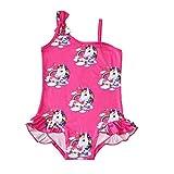 Foyean Baby Swimsuit one-Horned Children's Unicorn Bathing Suit Girl Cute hot Spring Girl Swimsuit(7hong-120)