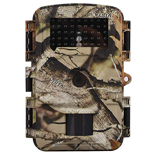 Wosports Trail Camera, 2018 Upgraded 1080P 12MP Hunting Game Camera, Wildlife Camera with Upgraded 850nm IR LEDs Night Vision 65ft, 2.4''LCD IP54 for Home Security Wildlife - Cam Hi Speed