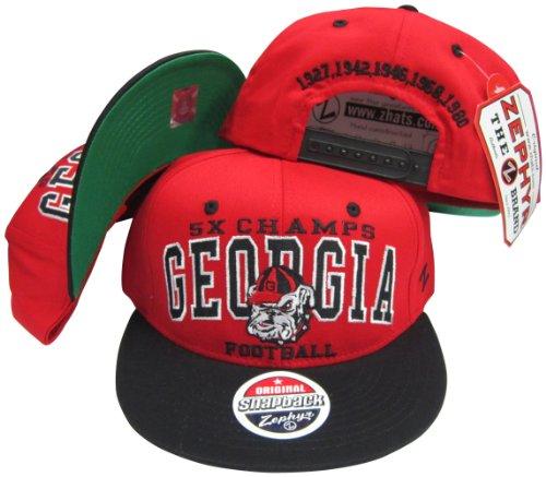 Georgia Bulldogs 5X National Football Champs Adjustable Snapback ()
