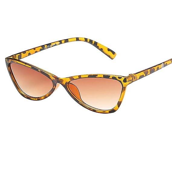 2f23735418 Cebbay-Gafas de Sol Retro Unisex Protección contra la radiación de Moda  Gafas de Sol de Ojo de Gato: Amazon.es: Ropa y accesorios