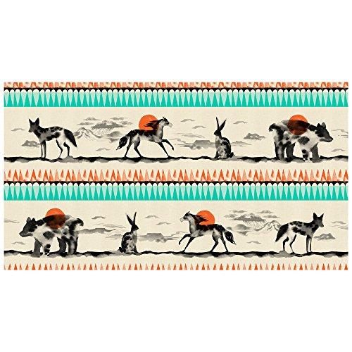 (Cotton & Steel Fabrics Cotton + Steel Santa Fe Horizon Stripe Red Fabric by The Yard)