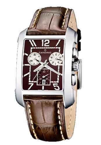 Candino C4334-5 - Reloj de Caballero de Cuarzo, Correa de Piel Color marrón: Amazon.es: Relojes